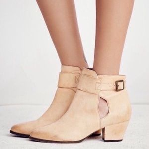 Free People Natural Belleville Ankle Boots